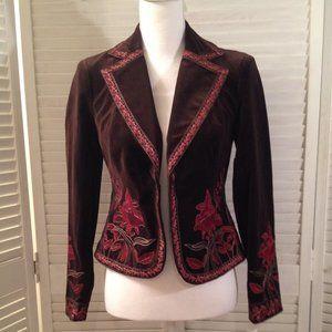 Nygard Collection Petite 4 NEW Brown Velvet Blazer